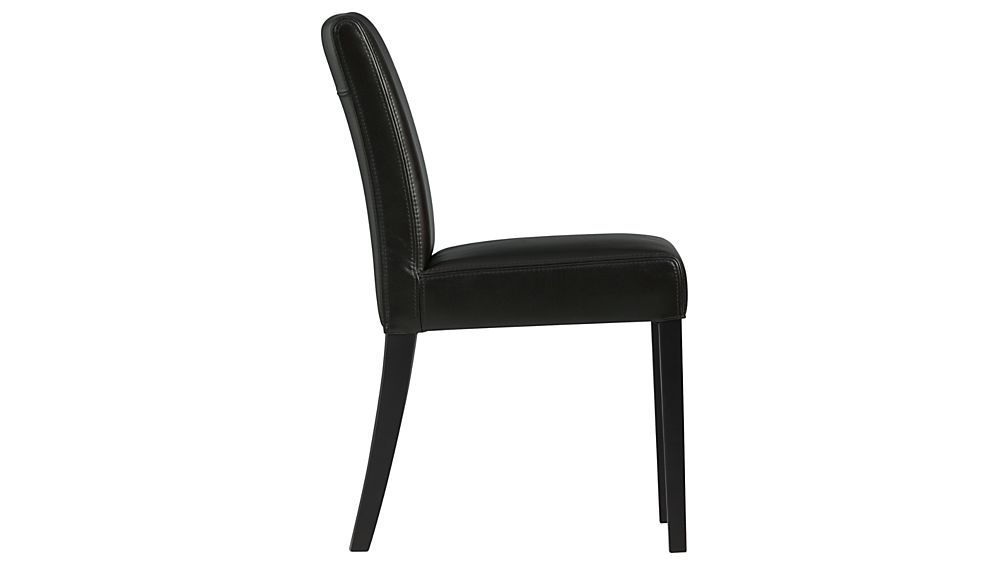 Lowe Onyx Leather Dining Chair