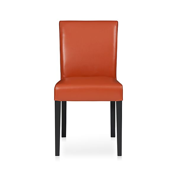 Lowe Persimmon Leather Side Chair