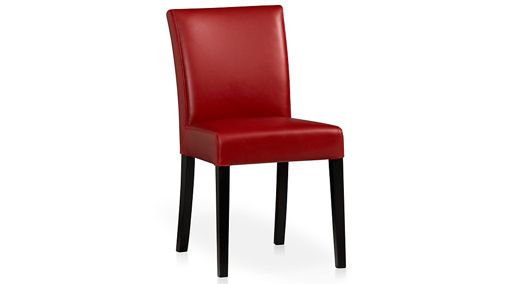 ... Lowe Red Leather Dining Chair ...