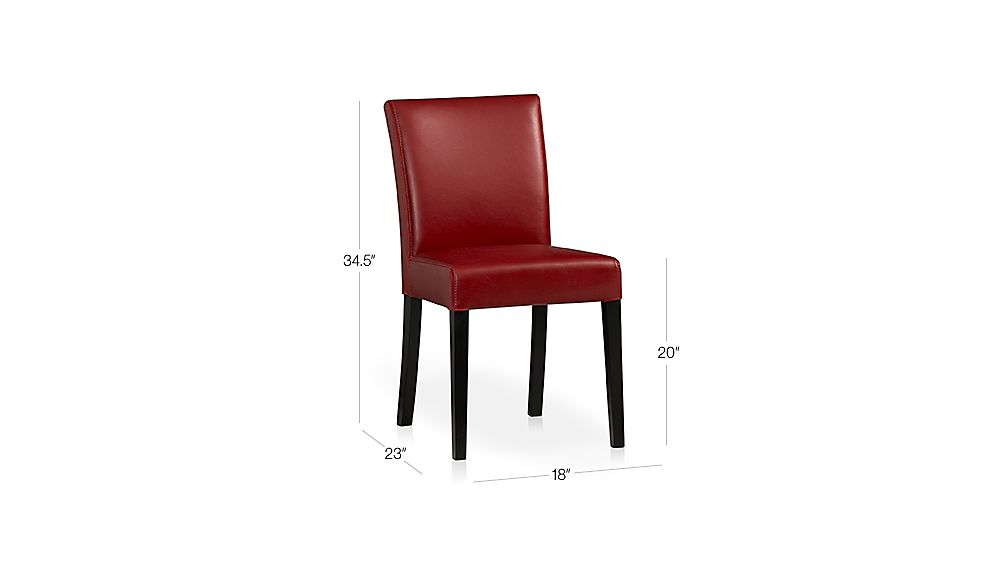 Lowe Red Leather Dining Chair Crate And Barrel