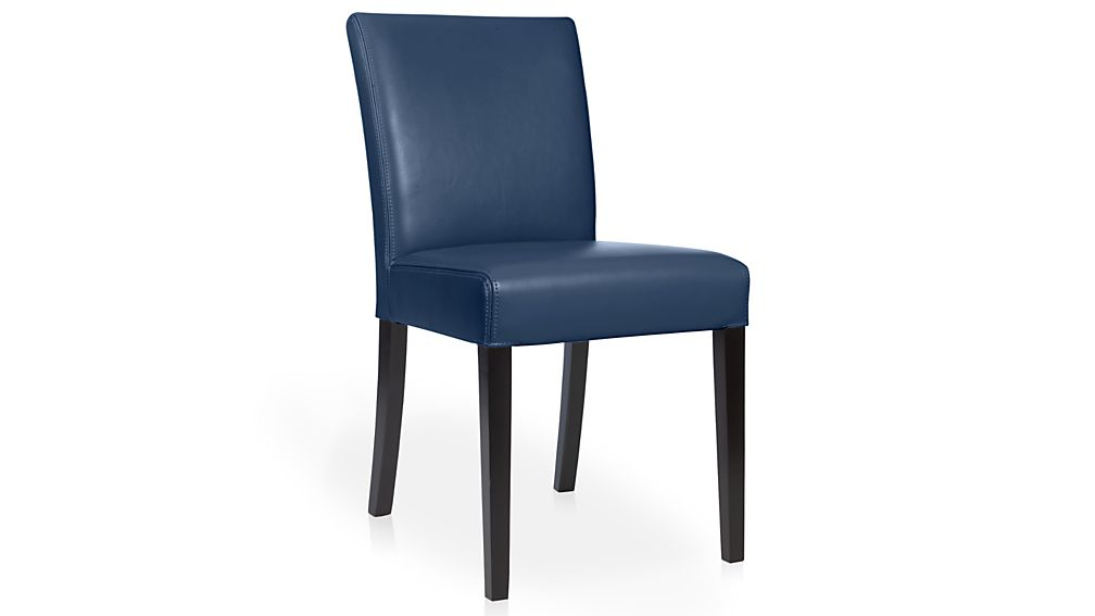 Lowe Navy Leather Dining Chair