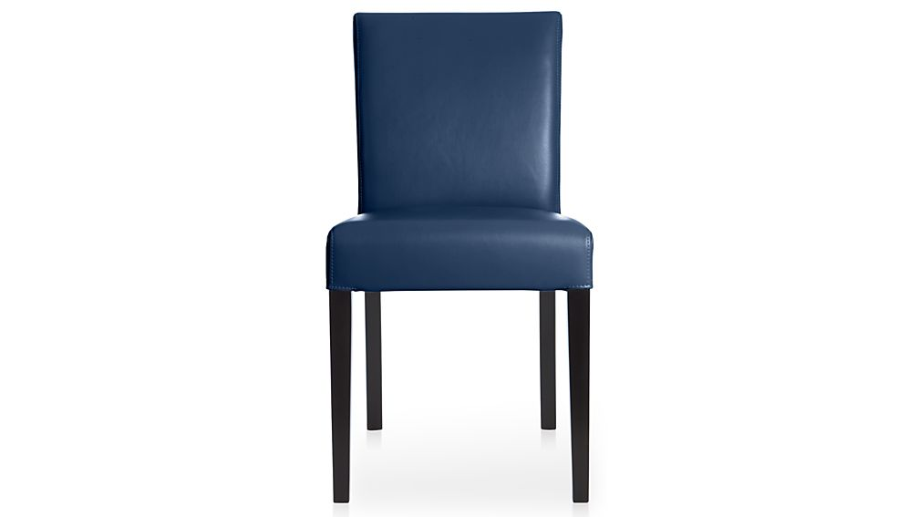 Navy blue parsons chairs lowe navy leather dining chair crate and barrel blue parson dining - Crate and barrel parsons chair ...