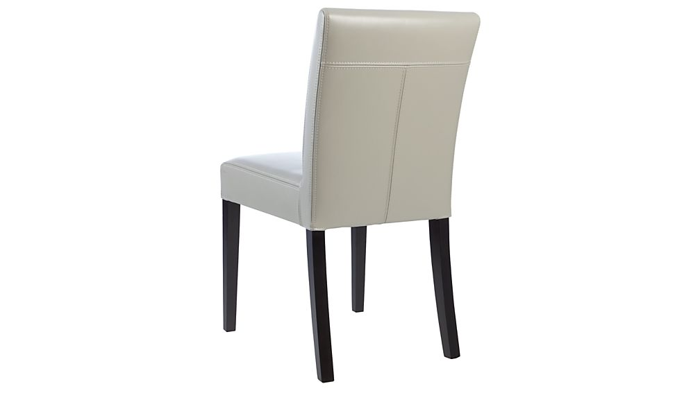 Lowe Pewter Leather Dining Chair