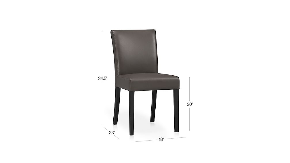 Lowe Smoke Leather Dining Chair Crate and Barrel : LoweSmokeSdChair3QF12Dim from www.crateandbarrel.com size 1008 x 567 jpeg 14kB