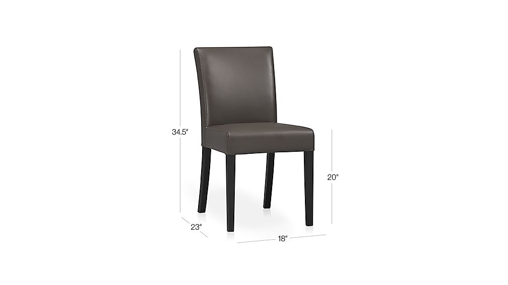 Lowe Smoke Leather Dining Chair Crate And Barrel