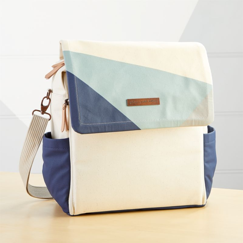 Petunia Pickle Bottom Light Blue And Navy Colorblock Boxy