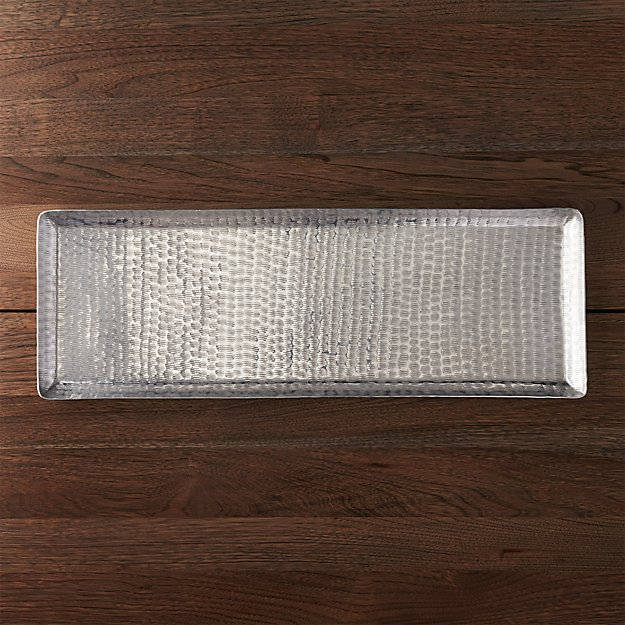Party Platters Aluminum Serving Tray Reviews Crate And Barrel