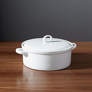 lucerne 3 quart casserole dish crate and barrel. Black Bedroom Furniture Sets. Home Design Ideas