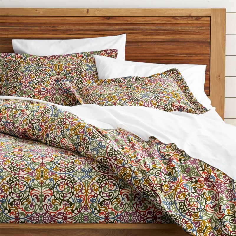 lucia duvet covers and pillow shams crate and barrel - Crate And Barrel Bedding