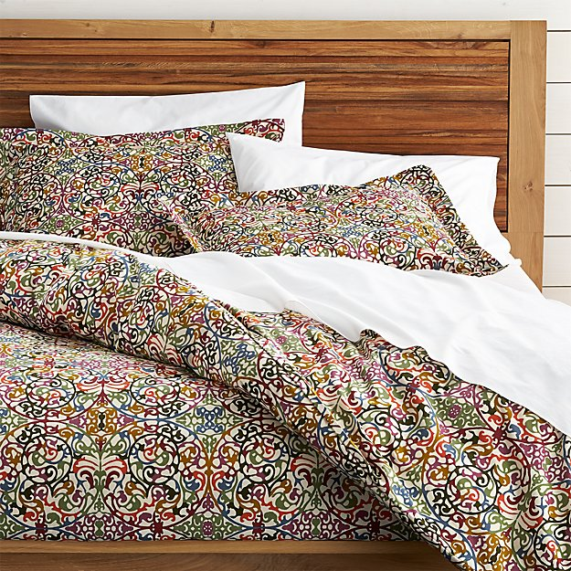 Lucia full queen duvet cover crate and barrel for Crate barrel comforter