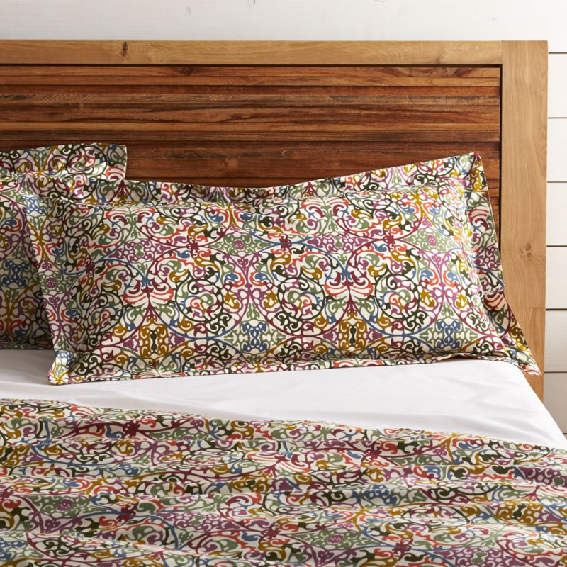 lucia king pillow sham | crate and barrel
