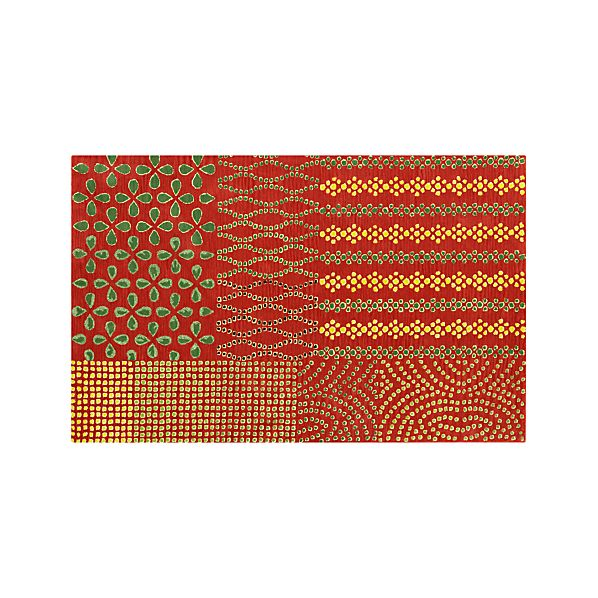 Lula Orange Wool 5'x8' Rug