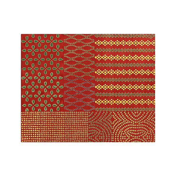 Lula Orange Wool 8'x10' Rug