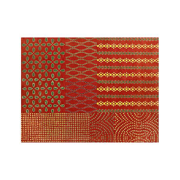 Lula Orange Wool 9'x12' Rug