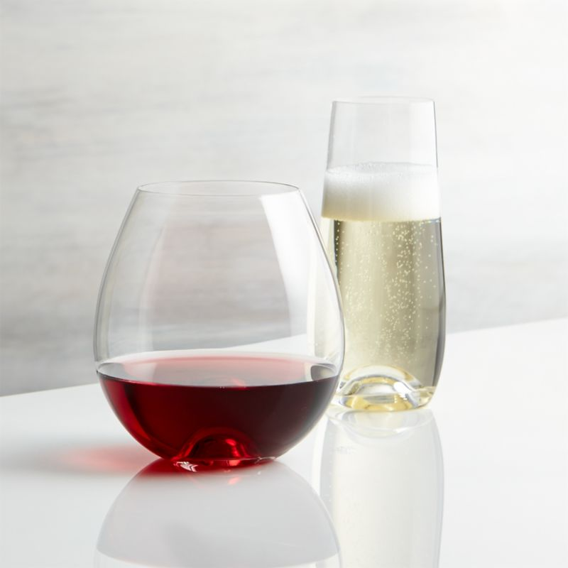 Lulie Stemless Wine Glasses Crate And Barrel