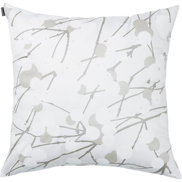 """Marimekko Lumimarja White 20"""" Pillow"""