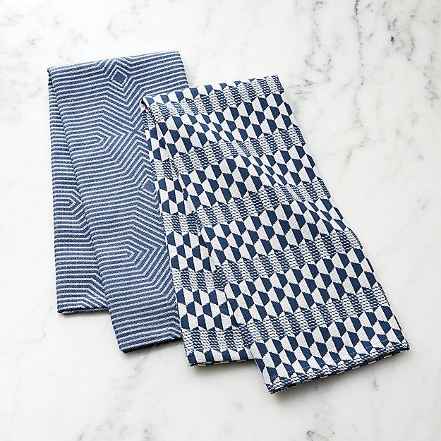 Luna Blue Dish Towels, Set of 2 - Image 1 of 6