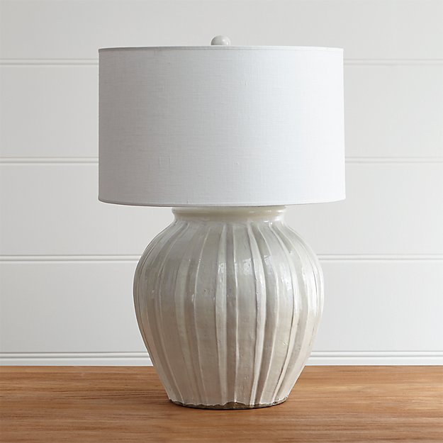 Crate and Barrel Exclusive. Luna Table Lamp - Luna Handcrafted Lamp Crate And Barrel