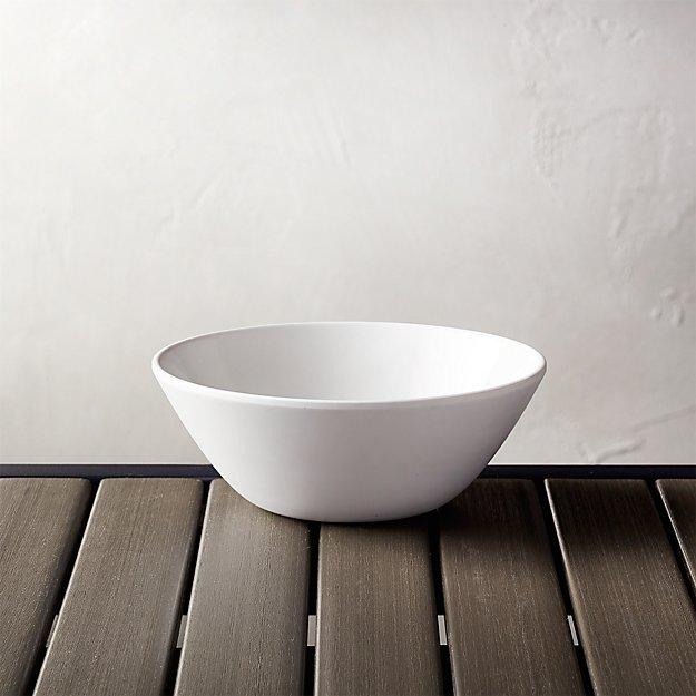 """Lunea Melamine White 6.25"""" Individual Bowl - Image 1 of 3"""