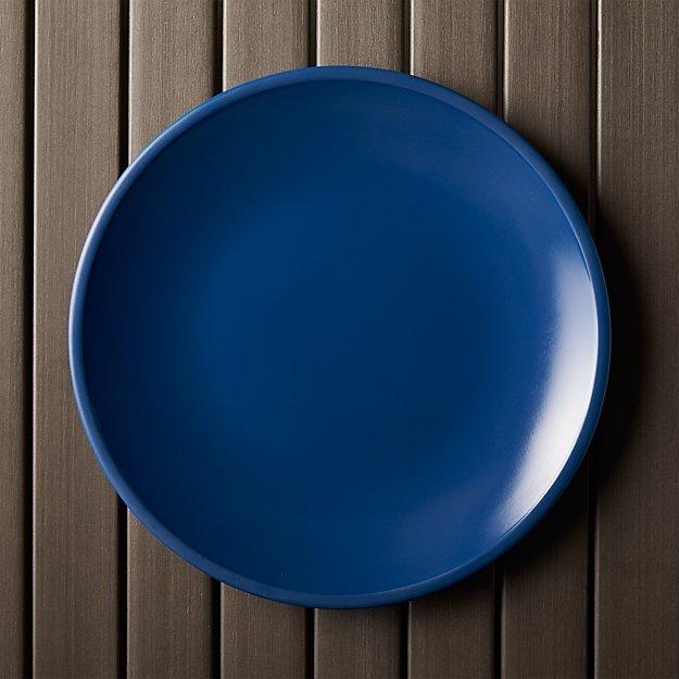 Lunea Melamine Indigo Dinner Plate - Image 1 of 9
