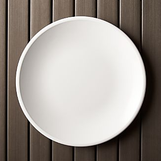 Lunea Melamine White 10.5\  Dinner Plate & Plastic Dinnerware | Crate and Barrel