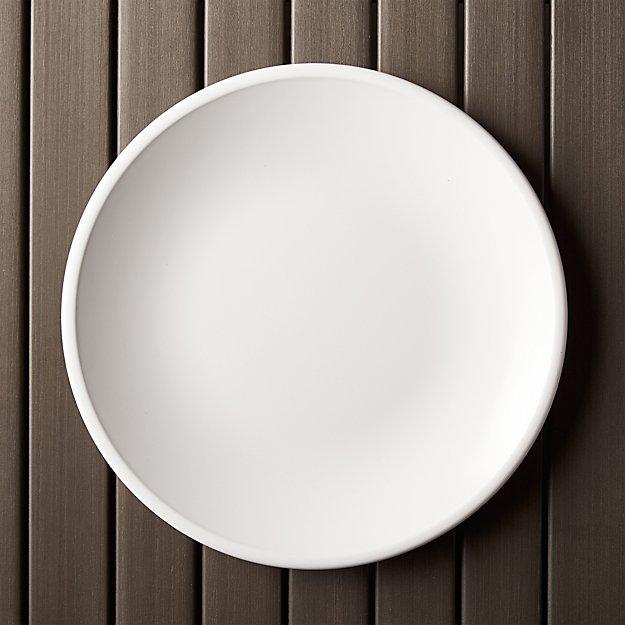 """Lunea Melamine White 10.5"""" Dinner Plate - Image 1 of 7"""