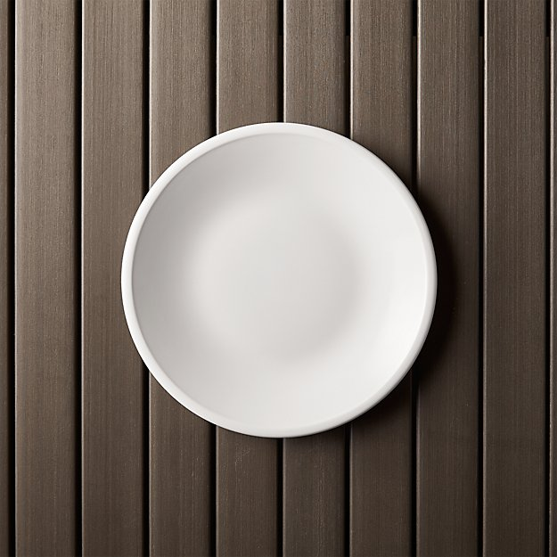 "Lunea Melamine White 8.5"" Salad Plate - Image 1 of 6"