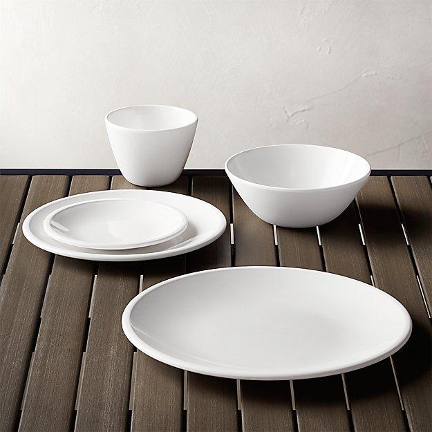 Lunea Melamine White Dinnerware - Image 1 of 6