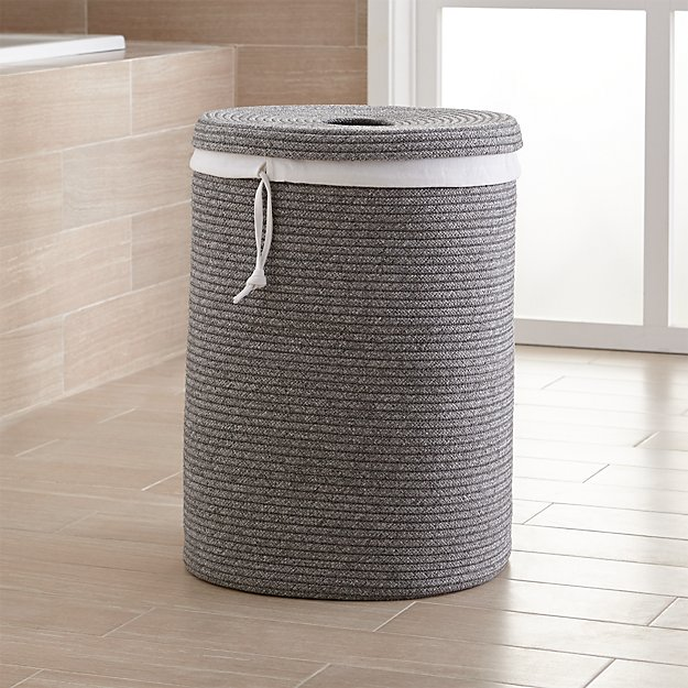 Lupe Grey Braided Hamper With Liner Reviews Crate And