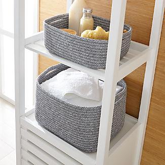 Lupe Grey Braided Baskets