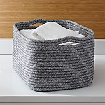 Lupe Grey Large Braided Basket