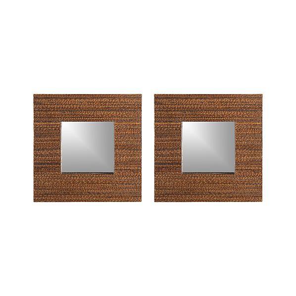 Set of 2 Lurik Wall Mirrors