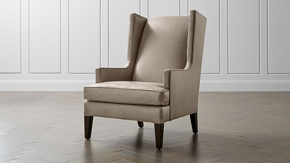 Luxe Leather Wingback Chair Crate and Barrel