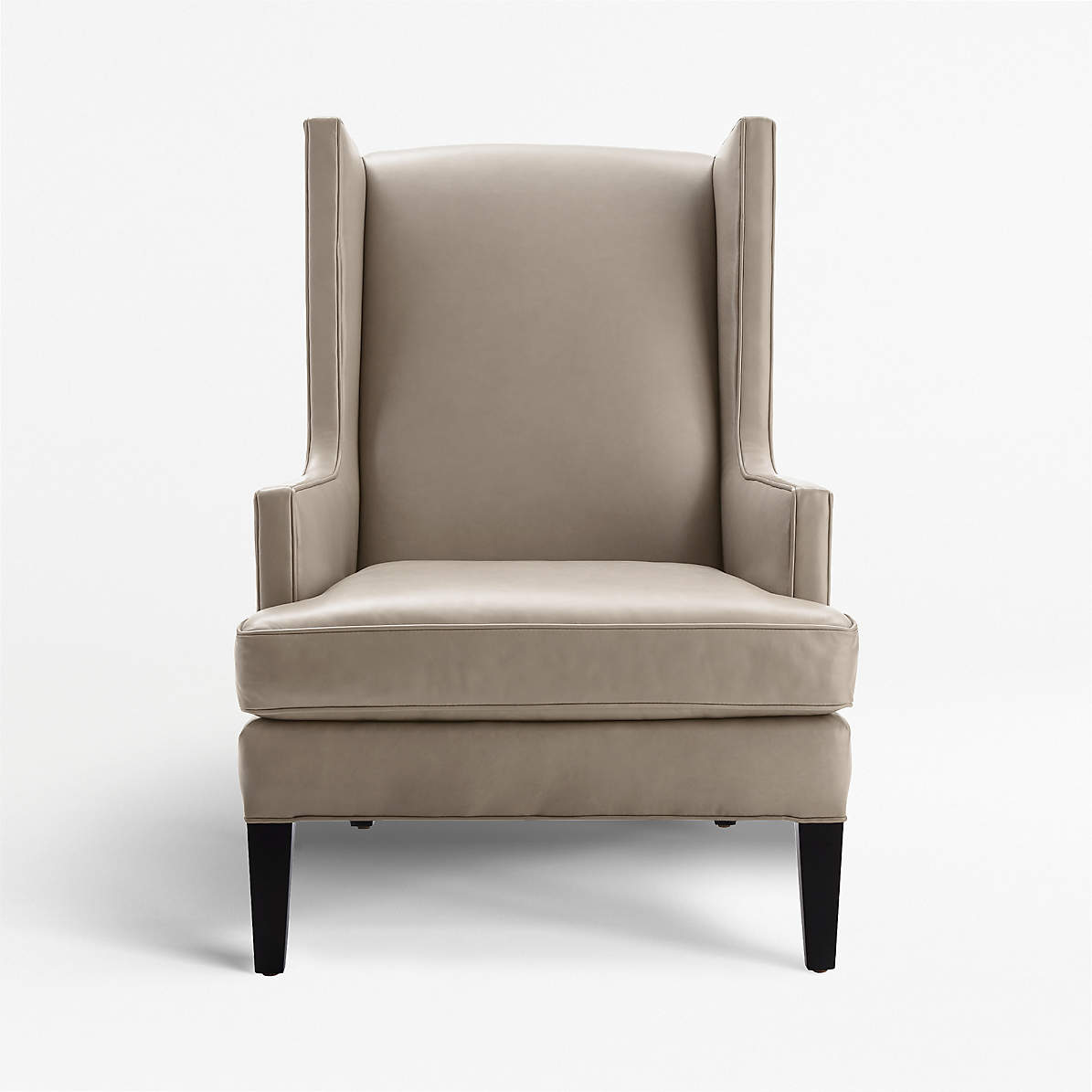 Picture of: Luxe Leather High Wing Back Chair Reviews Crate And Barrel