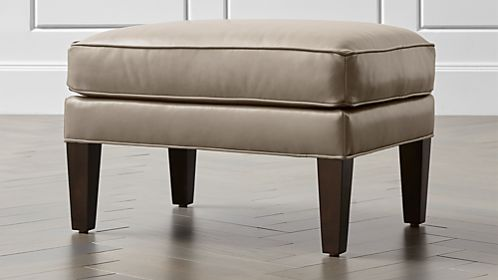 Luxe Leather Ottoman
