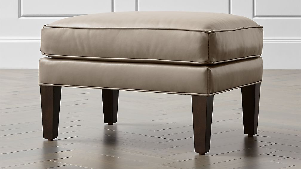 Luxe Leather Ottoman - Image 1 of 4