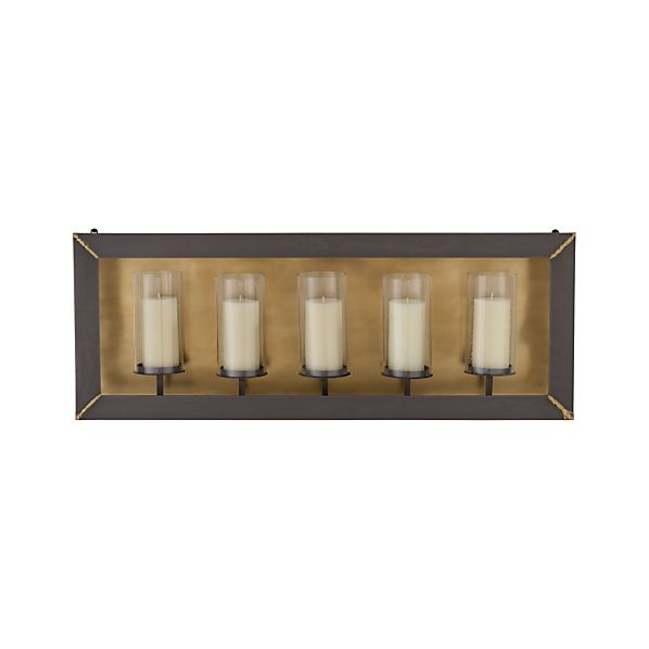 Luz Wall Mount Metal Candle Holder