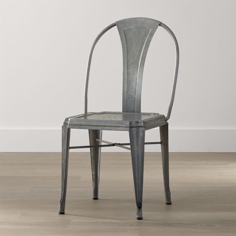 Metal Dining Chairs Industrial lyle metal dining chair | crate and barrel
