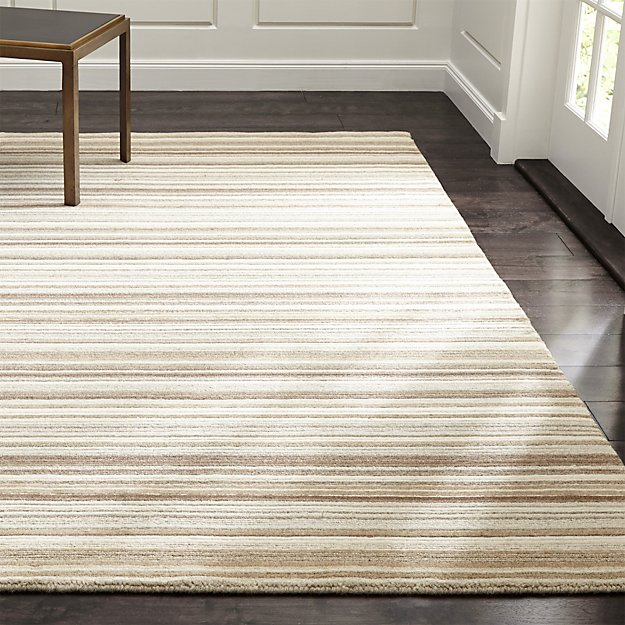 Lynx Natural Textured Wool Rug - Image 1 of 9