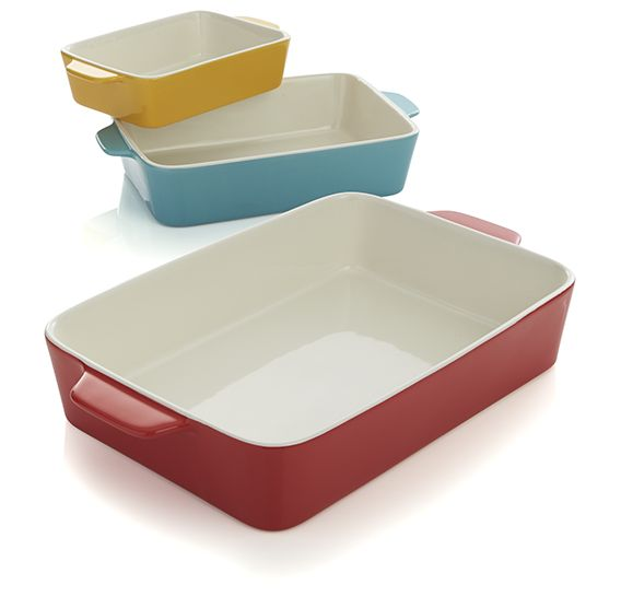 Colored baking dishes