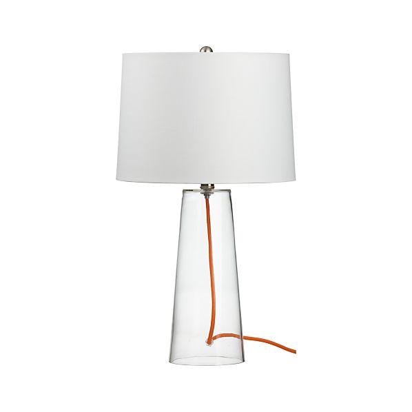Mack with Orange Cord Table Lamp