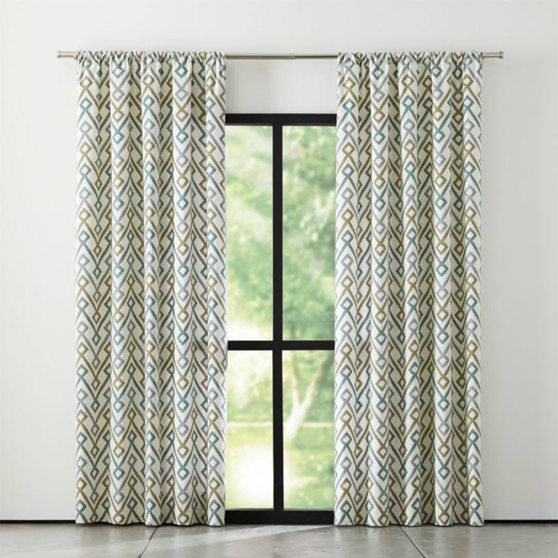 Maddox Khaki Grey Curtains Crate And Barrel