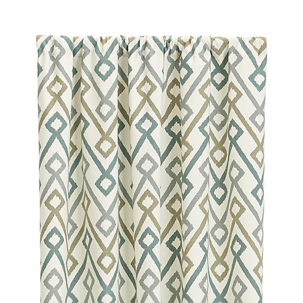 "Maddox 50""x108"" Khaki/Grey Curtain Panel"