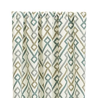 "Maddox 50""x96"" Khaki/Grey Curtain Panel"
