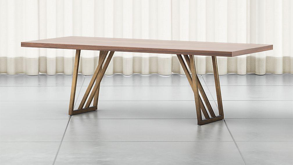 Madina Walnut Dining Table - Image 1 of 8