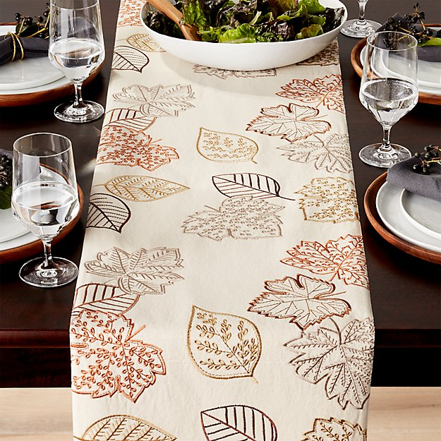 Maebry embroidered 120 table runner crate and barrel for 120 table runners