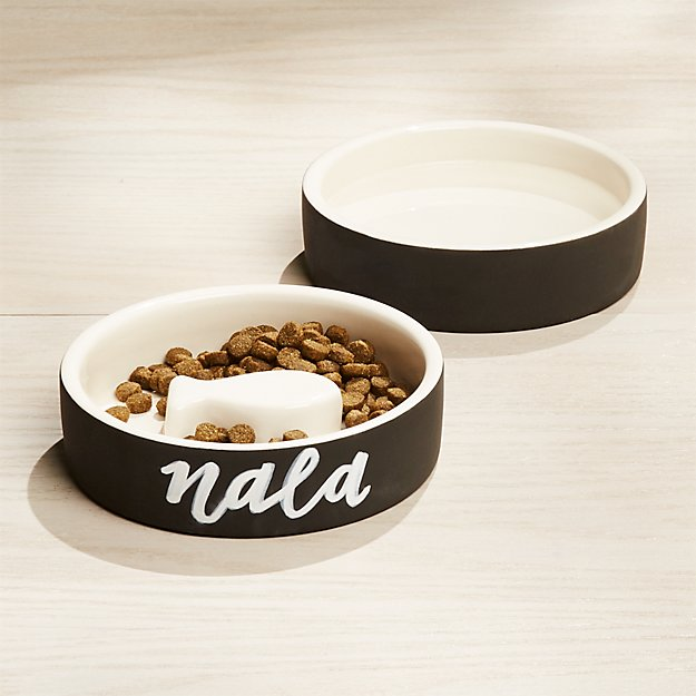 Extra Small Magisso Black Cat Water and Slow Feed Bowl - Image 1 of 2