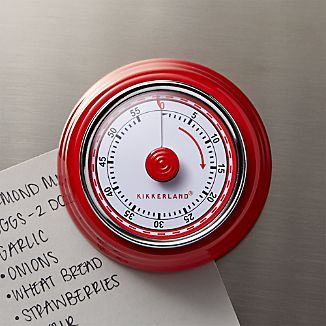 Magnetic Red Kitchen Timer Colors