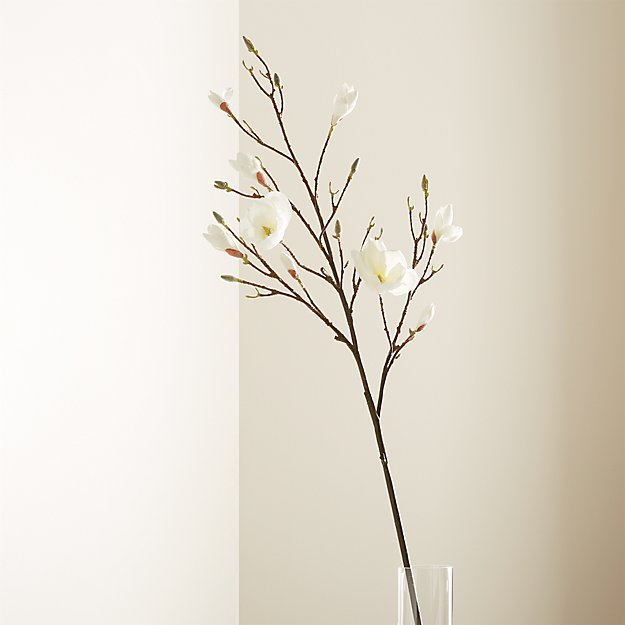 Magnolia Artificial Flower Stem Reviews Crate And Barrel
