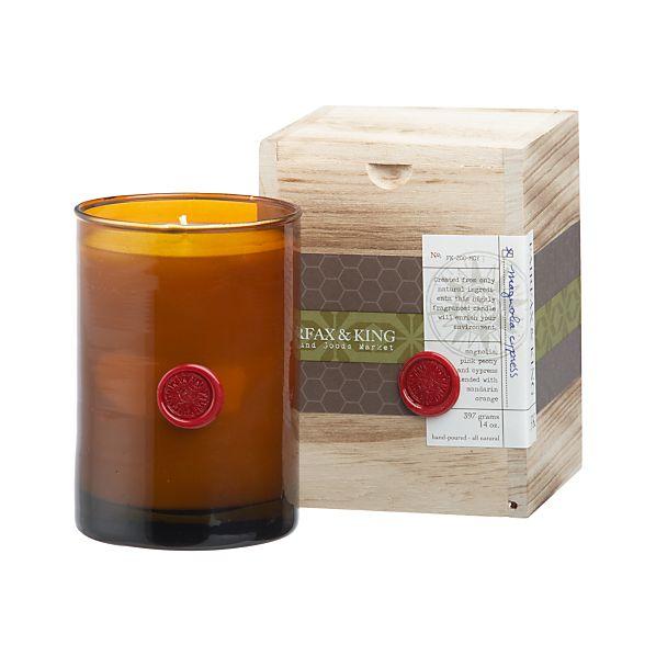 Fairfax & King Magnolia Cypress Candle